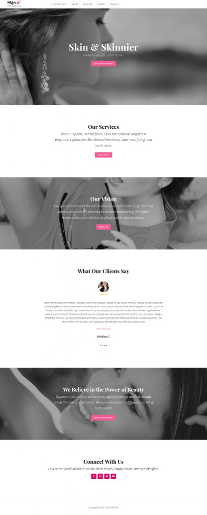 Skin and Skinnier Homepage