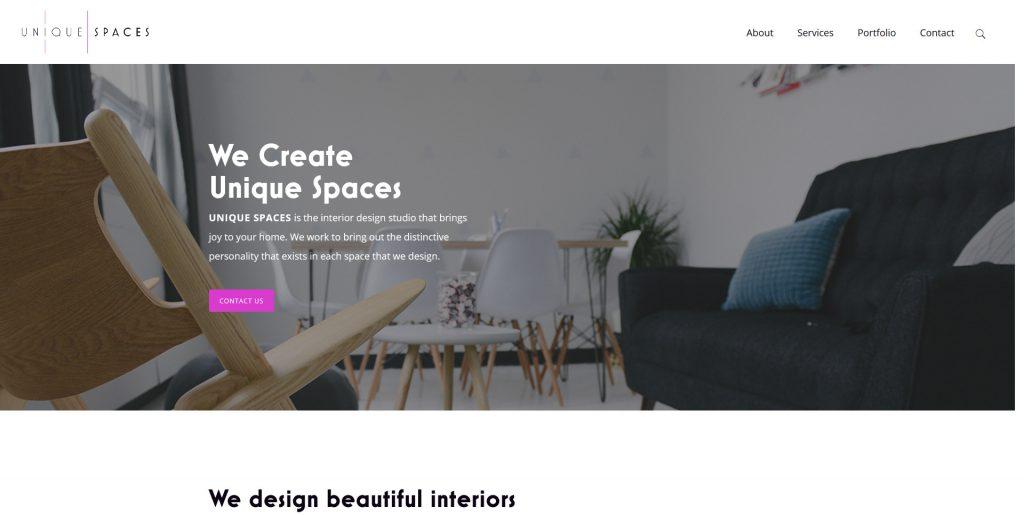 Unique Spaces Homepage